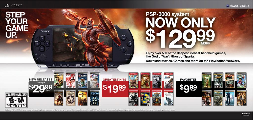 PSP Now Available for $129.99; New Additions to Greatest Hits and Favorites Collections