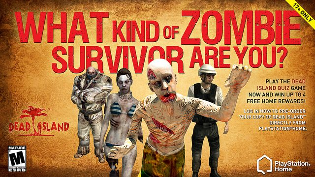 PlayStation Home Guide: Dead Island Zombie Survivor Game Challenges