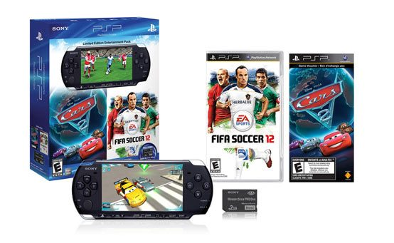 Coming Soon: Cars 2: The Video Game for PSP and the EA Sports FIFA Soccer 12 and Cars 2: The Video Game PSP Entertainment Pack