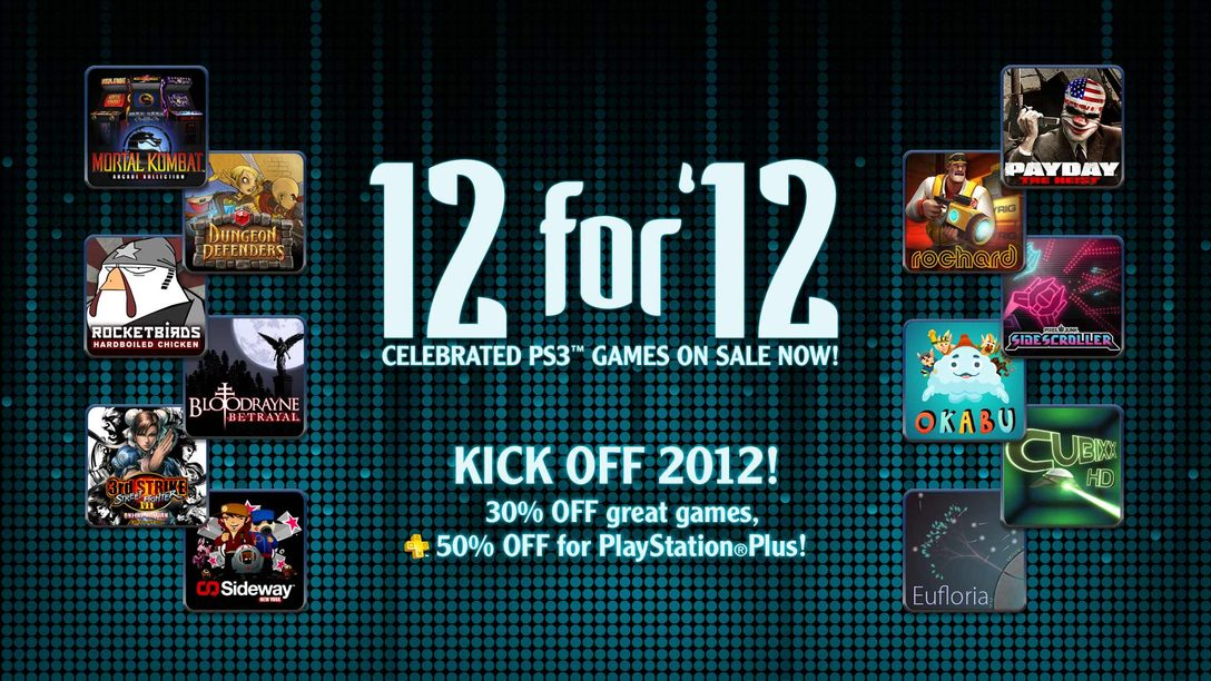 "Introducing PlayStation Network's ""12 for '12"" PS3 Game Sale"