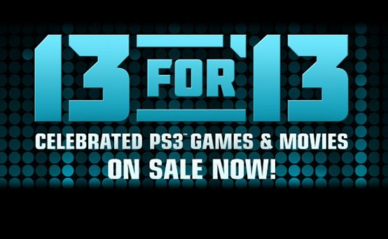 PSN's 13 For '13 Begins Tomorrow: Top Games & Movies, Great Prices