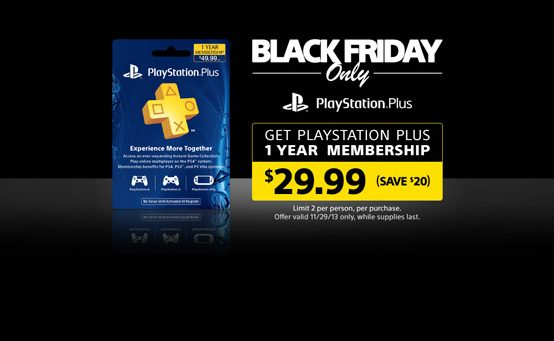 Black Friday Deals for PS3, PS Vita, and PS Plus