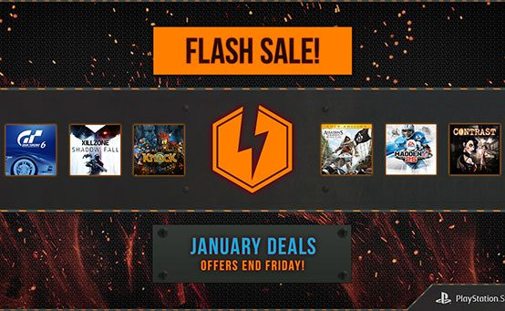 Flash Sale Starts Now: PS4, PS3 and PS Vita Games Up to 50% Off