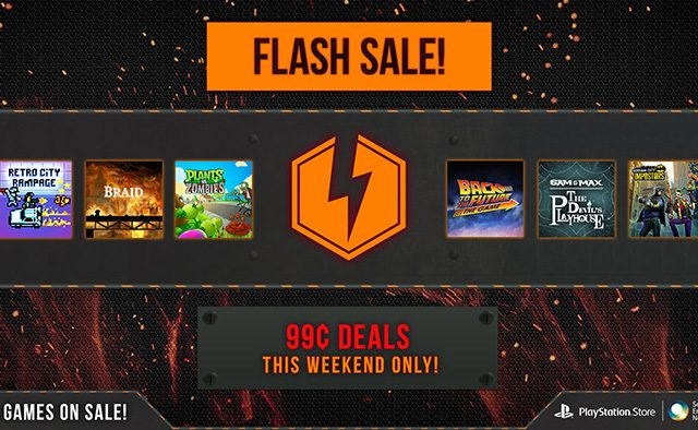 PS Store Flash Sale: 30 Games Available for $0.99 Each