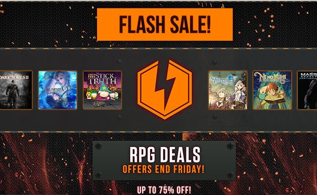 Flash Sale: Over 15 RPGs & Add-Ons, Up to 75% Off