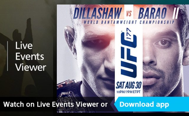 PS4 Live Events Viewer App Hits Tomorrow, Watch UFC 177