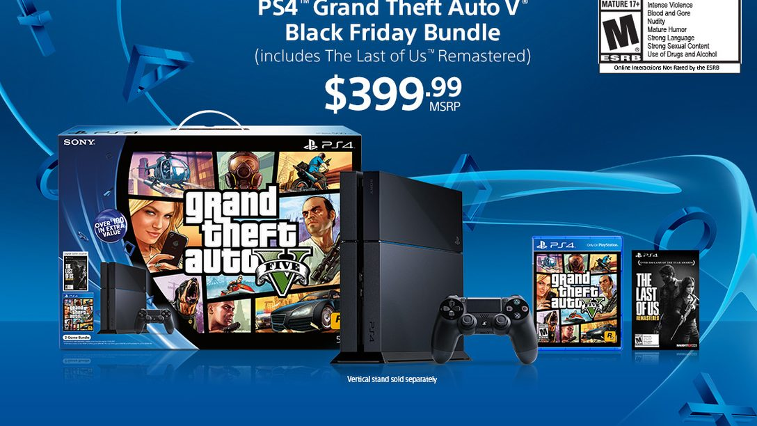 PS4 on Black Friday: GTA V Bundle and LEGO Batman 3 Bundle