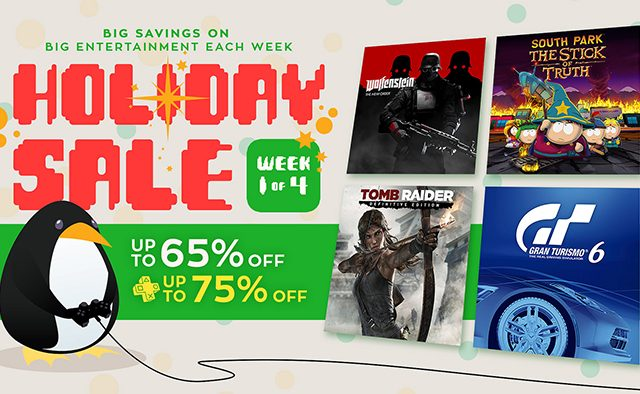 Holiday Sale: 4 Weeks of Discounted Games and Movies