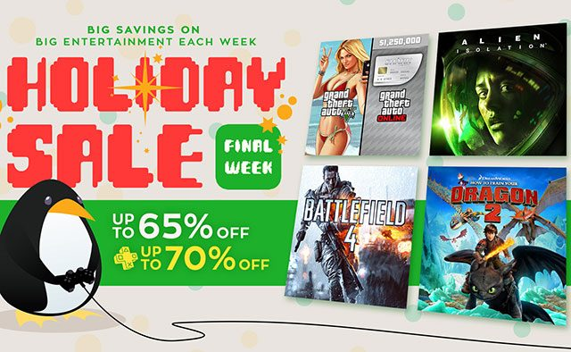 Holiday Sale: Final Week Sees More Games, Movies Discounted