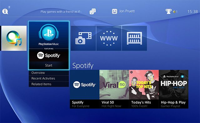 Spotify Launches on PlayStation Music Today