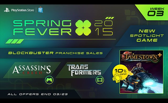 Spring Fever Week 3: Jamestown+ Out Today, More Game & Movie Sales