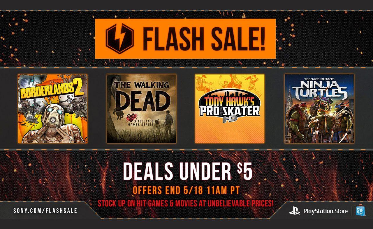 Flash Sale Now: Deals Under $5 – PlayStation.Blog