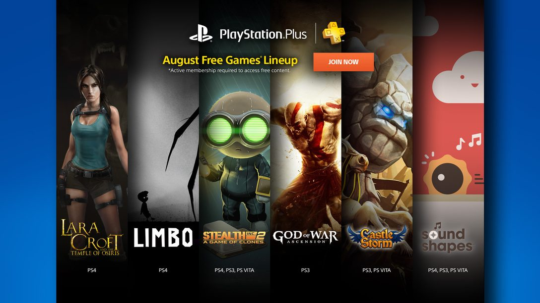 PS Plus: Free Games for August 2015