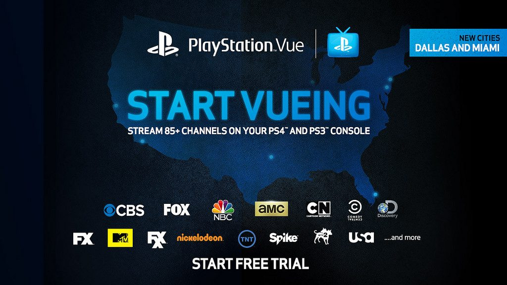 PlayStation Vue Launches in Dallas and Miami