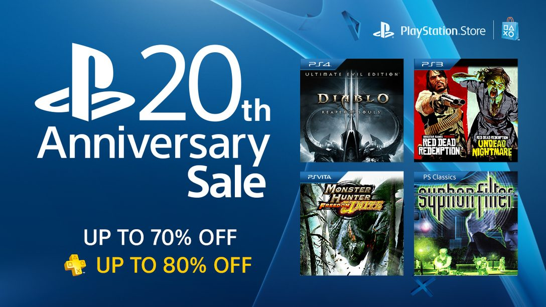 PlayStation 20th Anniversary Sale: 100+ Titles, Up to 70% Off