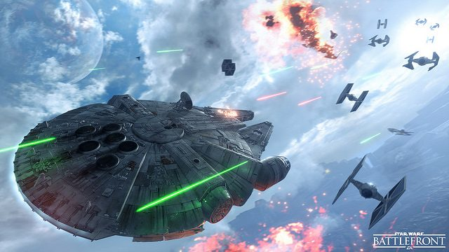 Star Wars Battlefront: Piloting Slave I and the Millennium Falcon