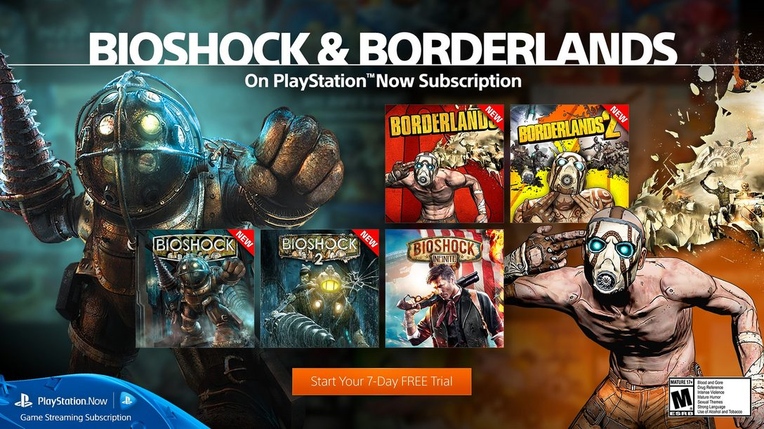 Borderlands & BioShock Games Join PlayStation Now Subscriptions Today