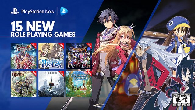 PlayStation Now: 15 New RPGs Available Today