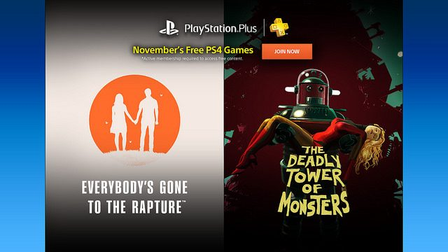 PS Plus: Free Games for November 2016