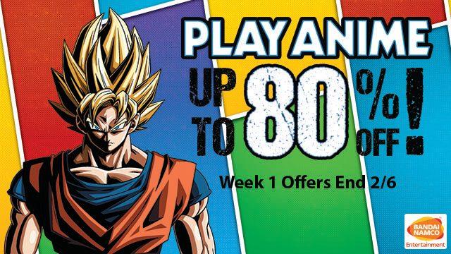 Play Anime: Save up to 80% on Bandai Namco Games