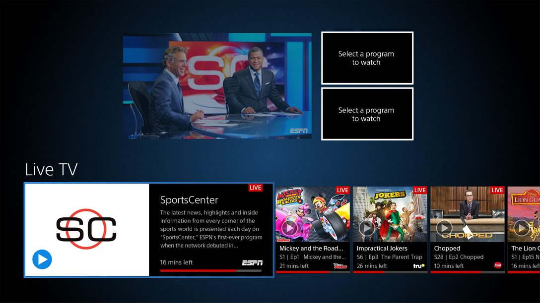 PS Vue: Watch Multiple Channels at Once with Multi-view, Out