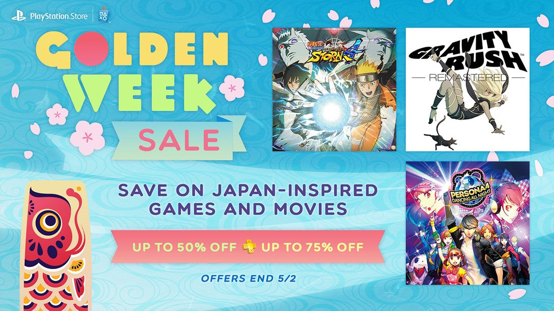 Golden Week Sale: Deals on Japan-Inspired Games and Movies
