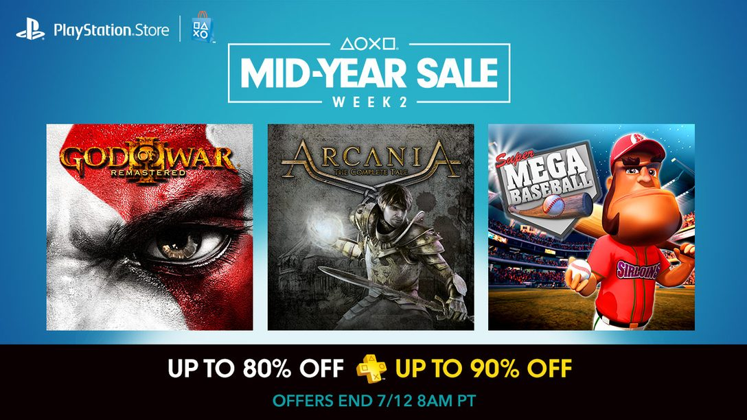 Mid-Year Sale Week 2: God of War III Remastered, More Up to 80% Off