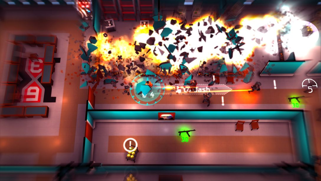 Control Time Itself in Twin-Stick Shooter Time Recoil, Out Sept. 12 on PS4