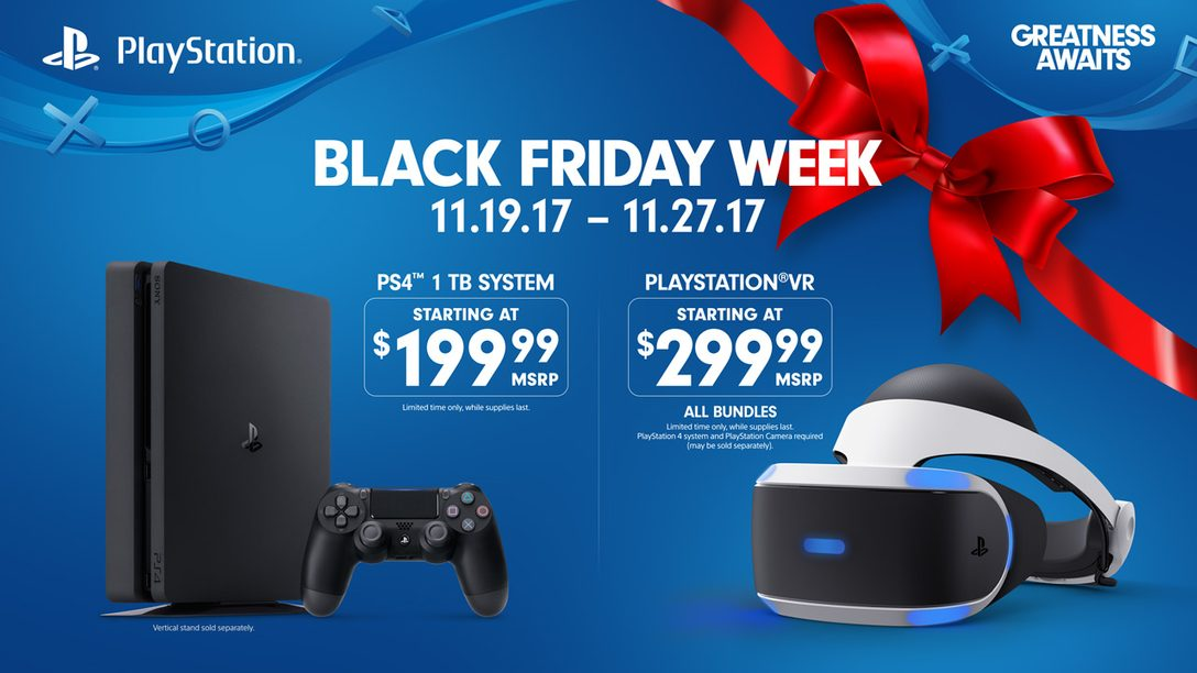 Black Friday 2017: Week-Long PlayStation Deals Revealed