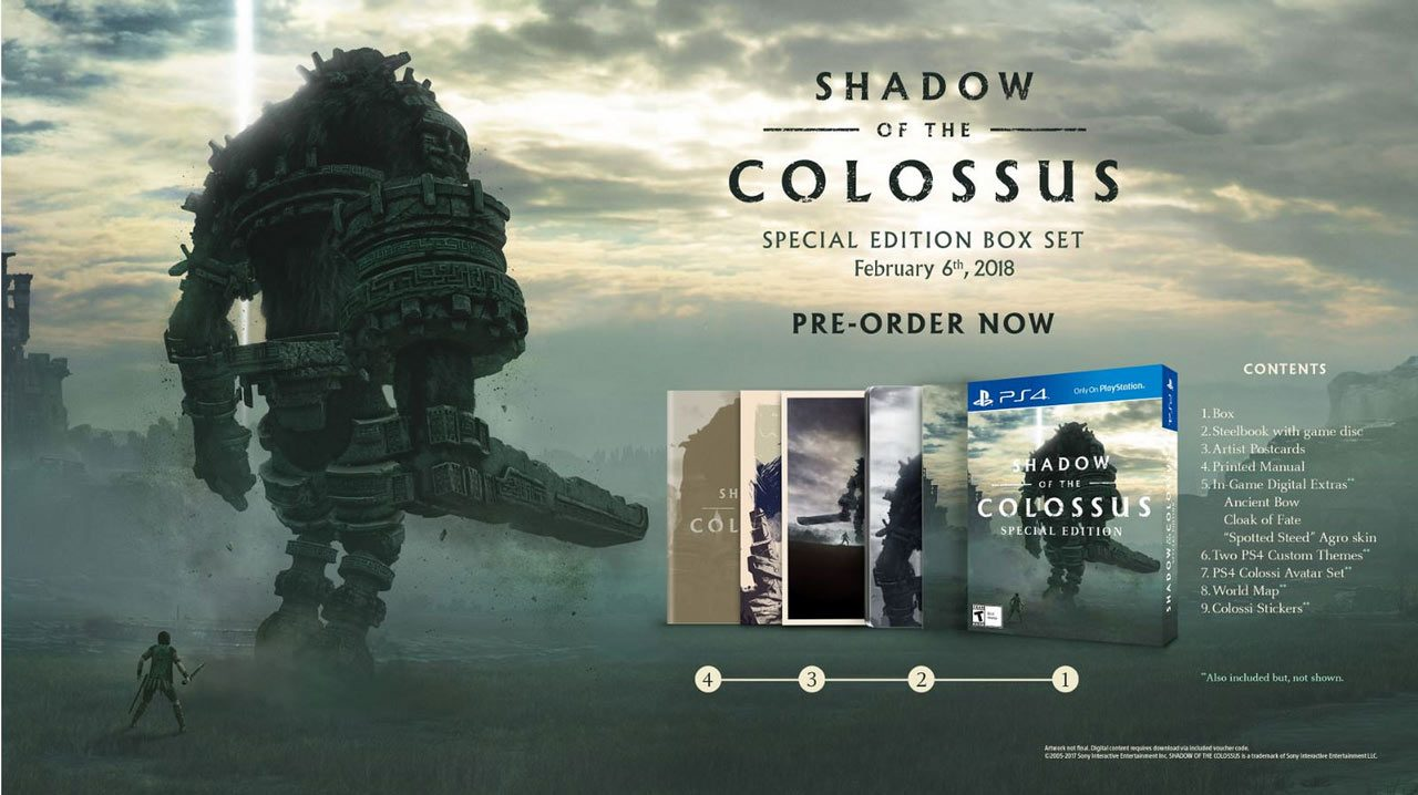 Shadow of the Colossus: PS4 Pro Enhancements, Special Edition