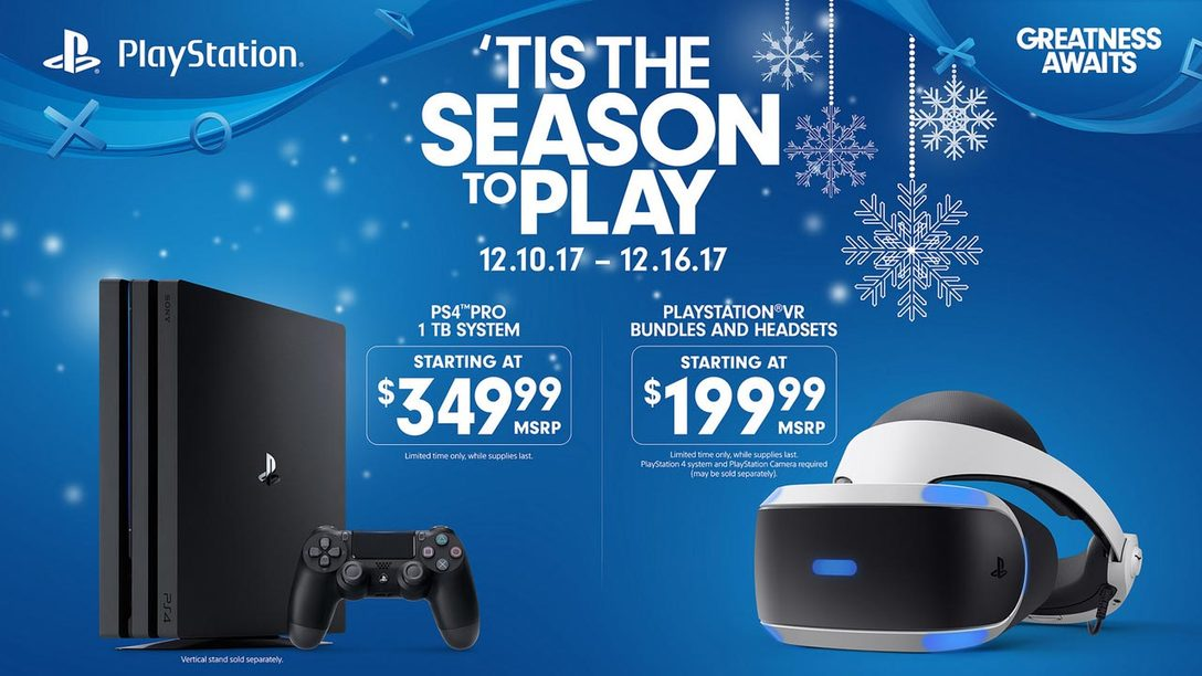 Tis the Season to Play: New December Deals for PS4 Pro and PlayStation VR Systems