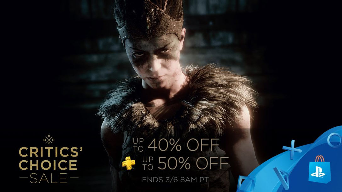 Critics' Choice Sale: Save up to 40% on Acclaimed Titles