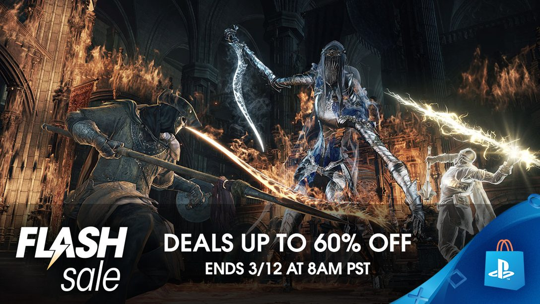 Flash Sale! Save Up to 60% at PlayStation Store