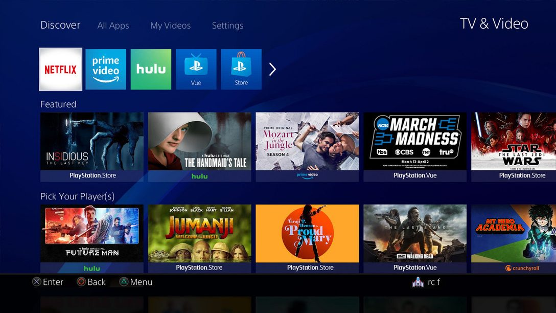 Introducing a New TV & Video Discovery Experience on PS4