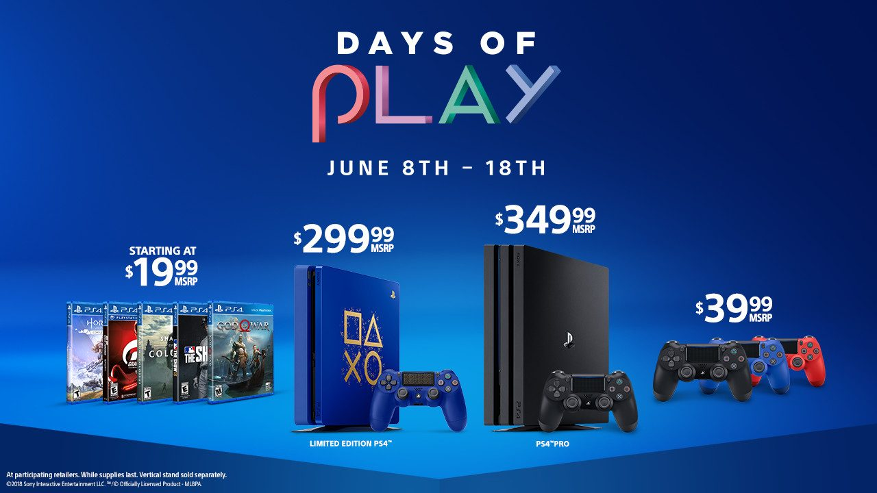 Days of Play is Back! New Limited Edition PS4, 11 Days of