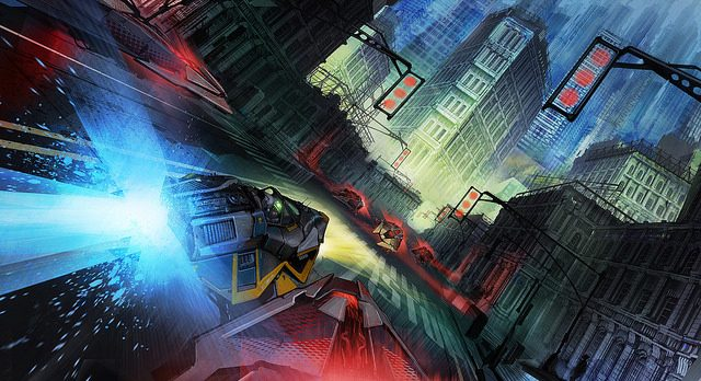 25 Unseen, Wallpaper-Friendly Pieces of Wipeout Concept Art