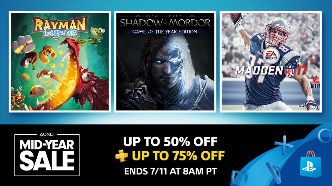Save up to 50% with PS Store's Mid-Year Sale