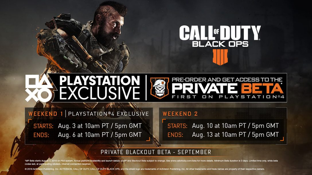 Black Ops 4 PS4 Private Multiplayer Beta – Incoming on August 3