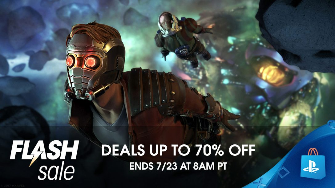 Flash Sale: Save up to 70% at PS Store
