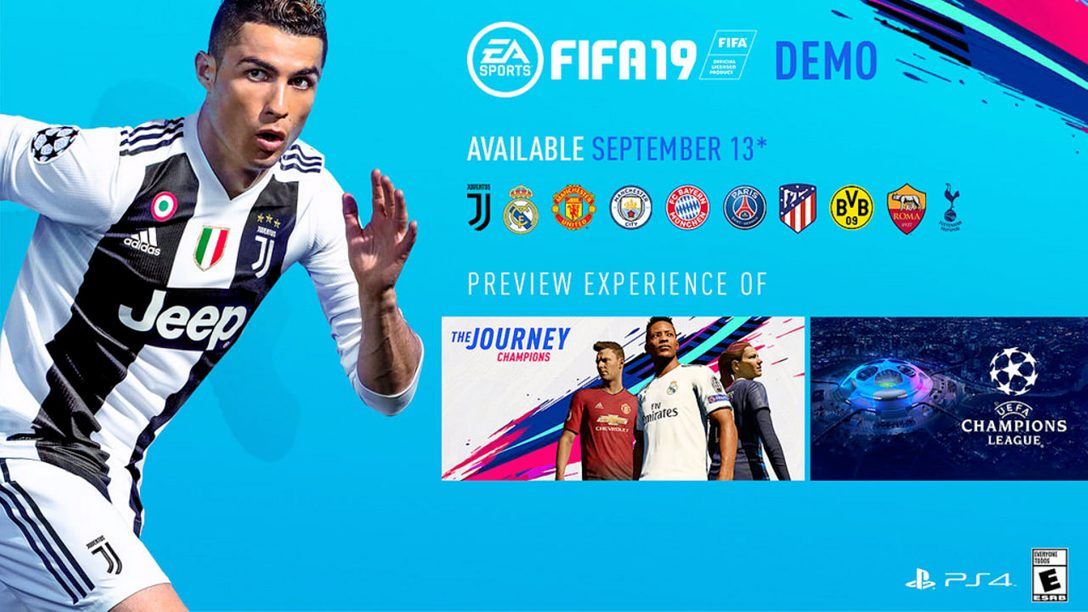 FIFA 19 Demo Launches on PS4 September 13