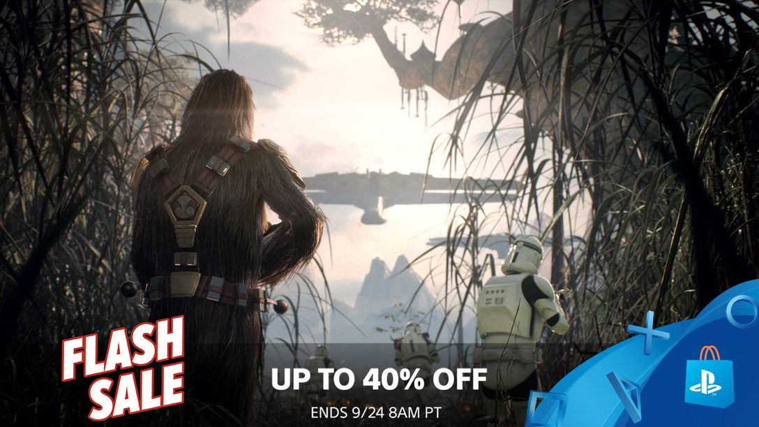 Flash Sale! Save up to 40% This Weekend at PS Store