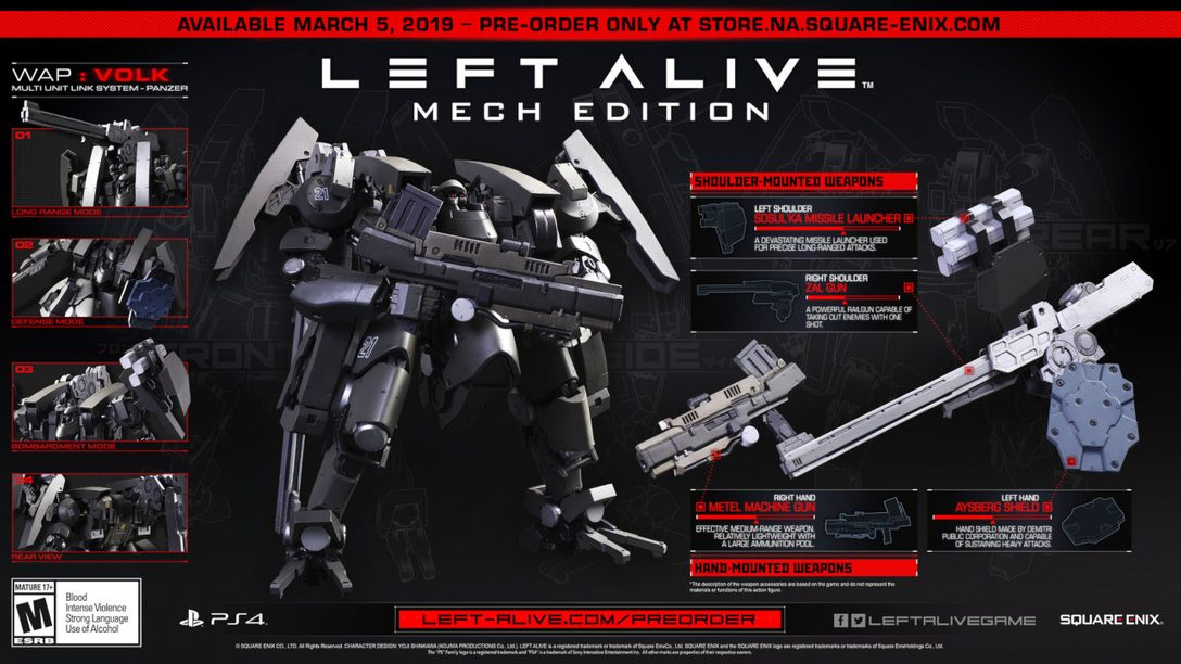 Left Alive Launches March 5, Gets New Mech Edition