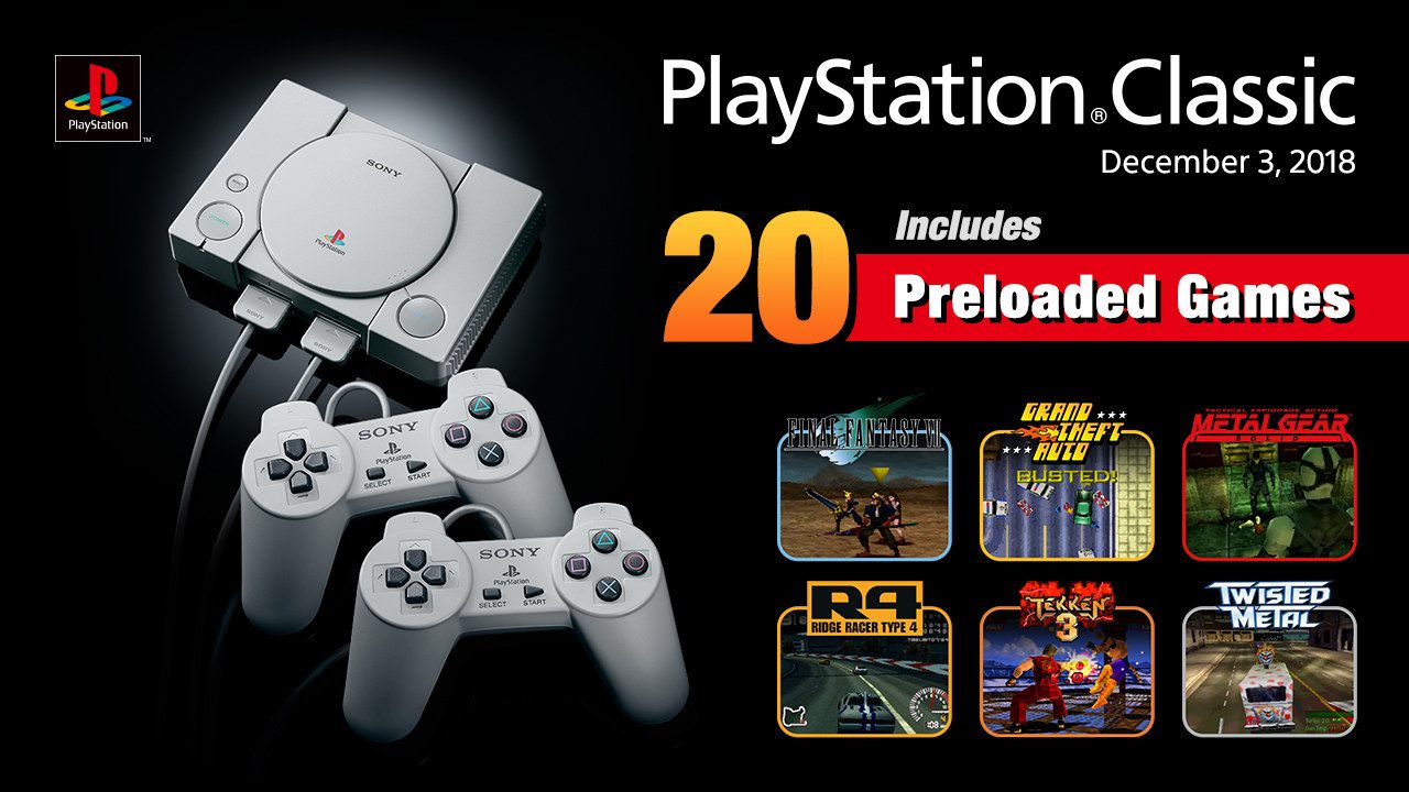 Announcing PlayStation Classic's Full Lineup of 20 Games