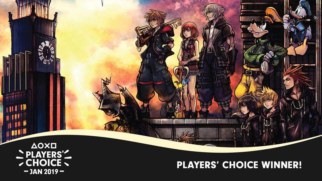 Players' Choice January Winner: Kingdom Hearts III