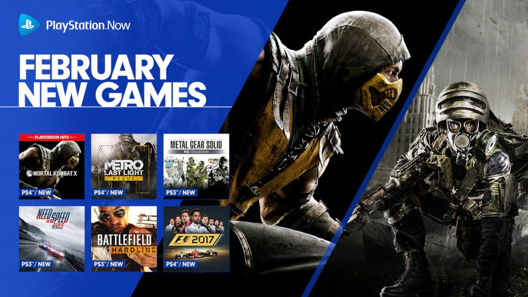 PlayStation Now February Update: Mortal Kombat X, Metal Gear Solid HD Collection, More