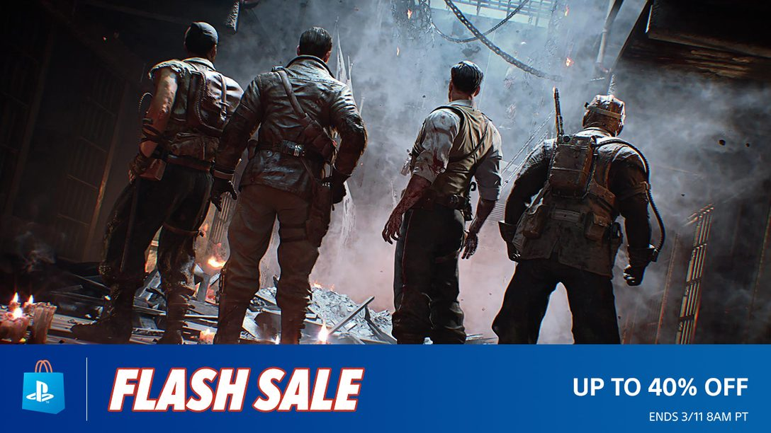 Flash Sale! Save Up to 40% at PS Store
