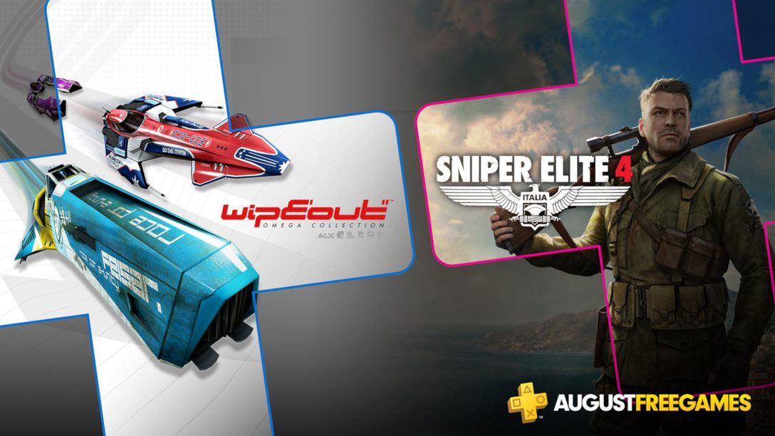 PlayStation Plus Free Games for August: WipEout Omega Collection, Sniper Elite 4