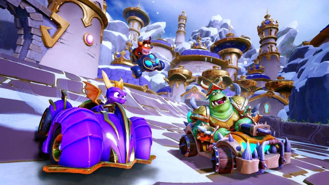 Spyro Glides into CTR Nitro-Fueled in New Grand Prix