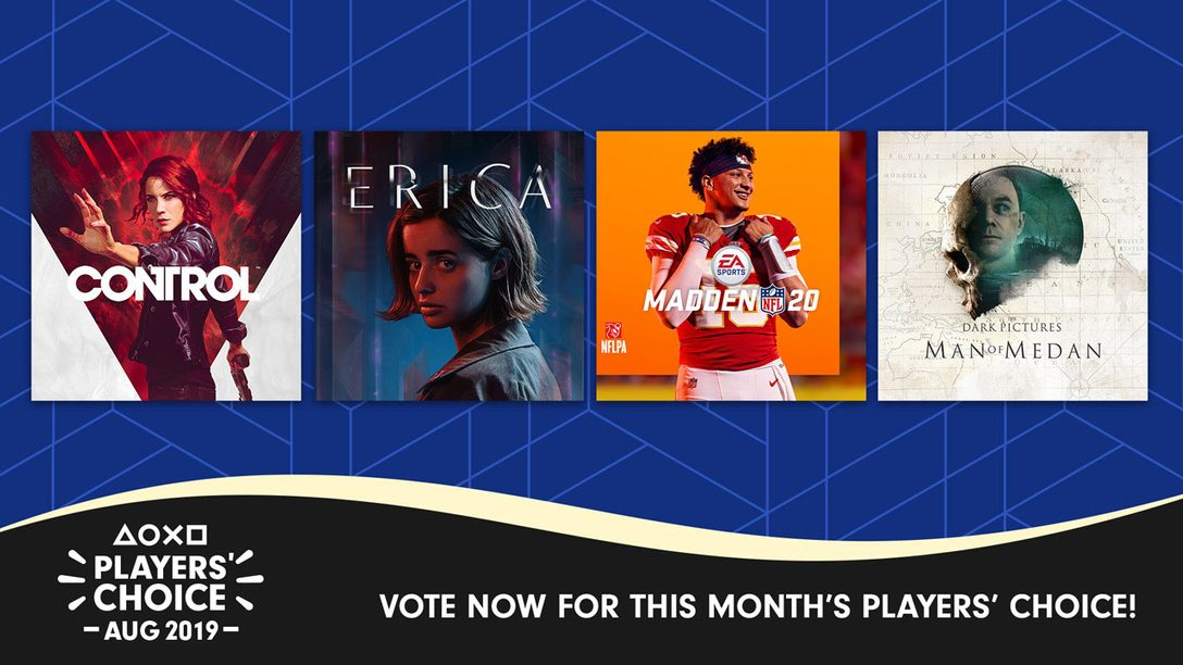 Players' Choice: Vote for the Best New Game of August 2019