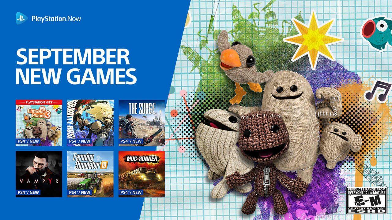 PS Now September Update: LittleBigPlanet 3, Gravity Rush 2
